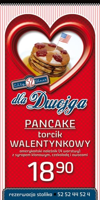 Pancake torcik walentynkowy