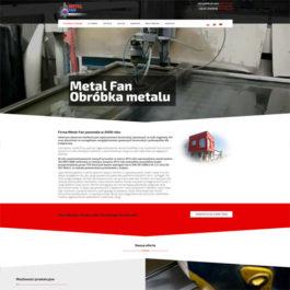 Strona internetowa dla firmy metal-fan